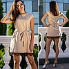 Бежевое платье с кружевом (Код MF-211), фото 2