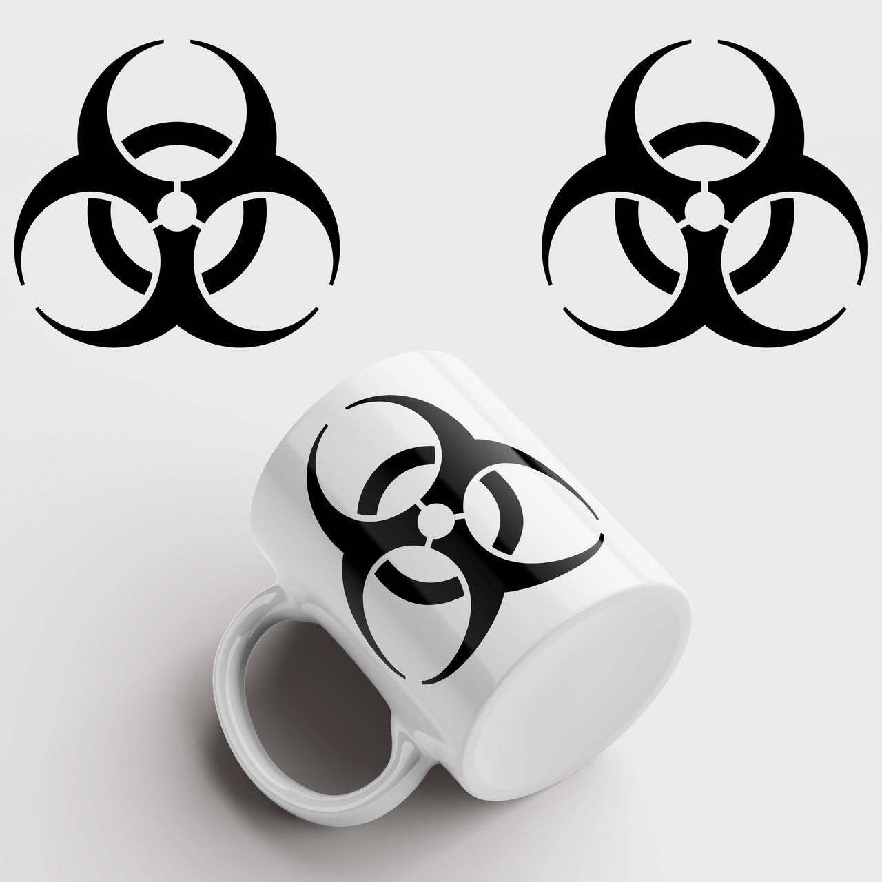 Кружка с принтом Биологическая угроза. Biological hazard. Опасность. Чашка с фото