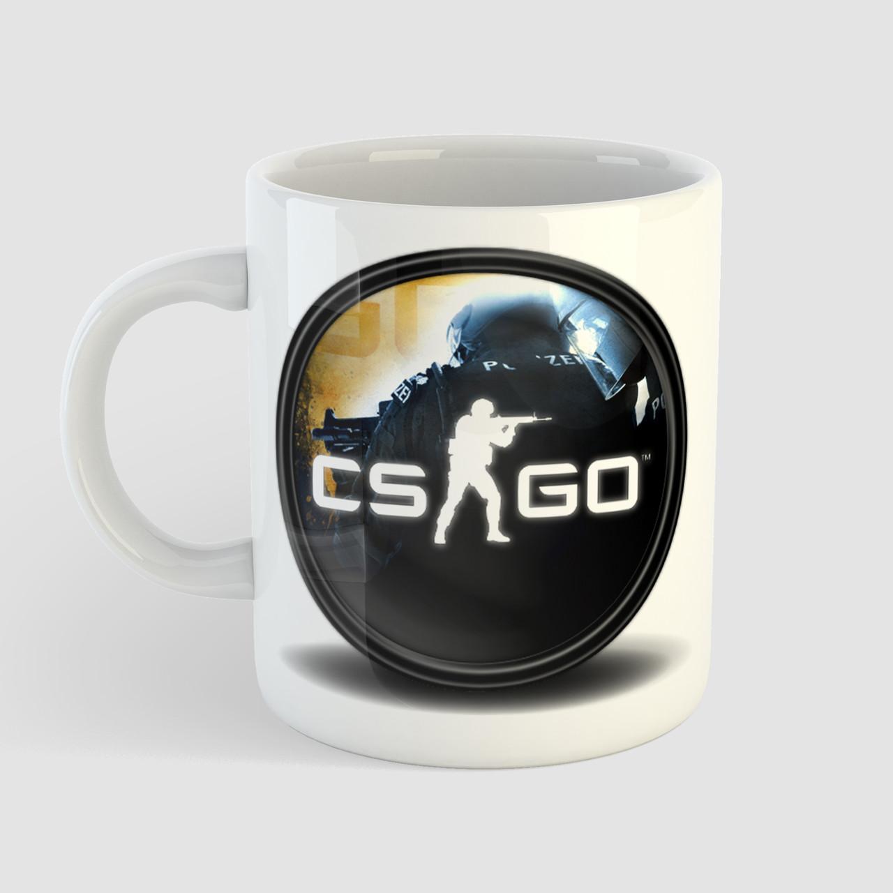 Кружка с принтом CS:GO. Counter-Strike. Чашка с фото