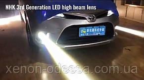 Линзы LED R2 ПТФ прожекторы. Прожекторы LED R2 дальнего света с дьявольскими глазами.