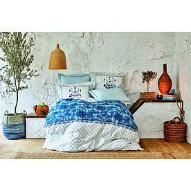 Постельное белье Karaca Home ранфорс - Costa mavi 2020-2 голубой евро