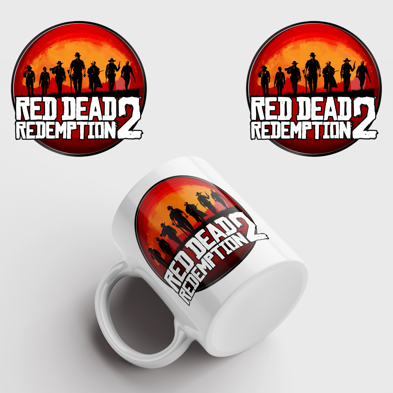 Чашка з принтом Red Dead Redemption 2