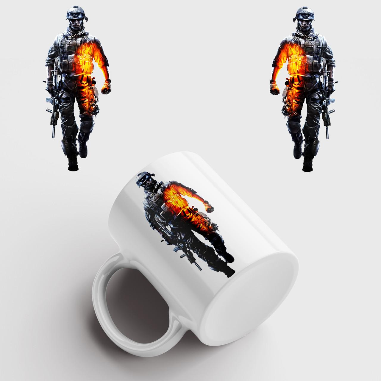 Чашка з принтом Battlefield
