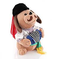 Поющая собачка Ловелас в вышиванке RUS