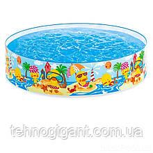 """Детский каркасный бассейн Intex 58477 """"Утиный риф"""" от 3-х лет, диаметр 122см, высота 25см, 218л"""