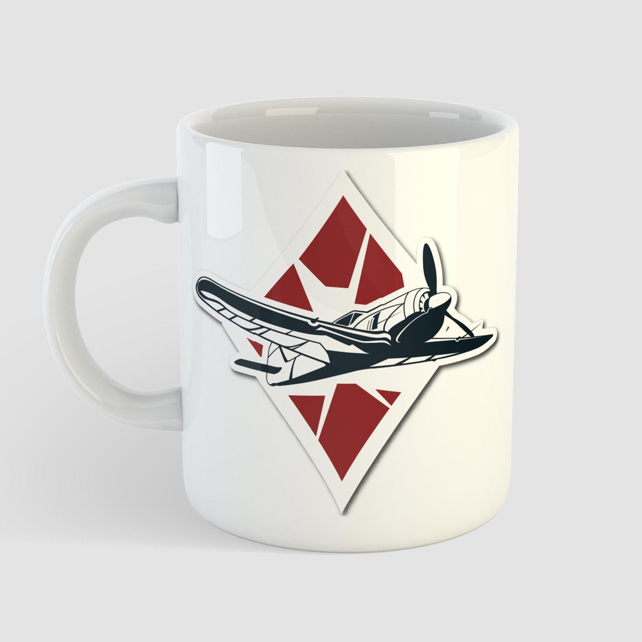 Кружка с принтом World of Warplanes. Чашка с фото