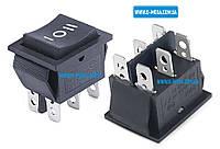 Кнопочный выключатель, клавиша широкая, 3 положения, с фиксацией, без подсветки 29,0 * 22,0 мм.