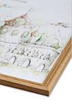 Рамка 40х40 из дерева - Дуб светлый 1,5 см - со стеклом, фото 2