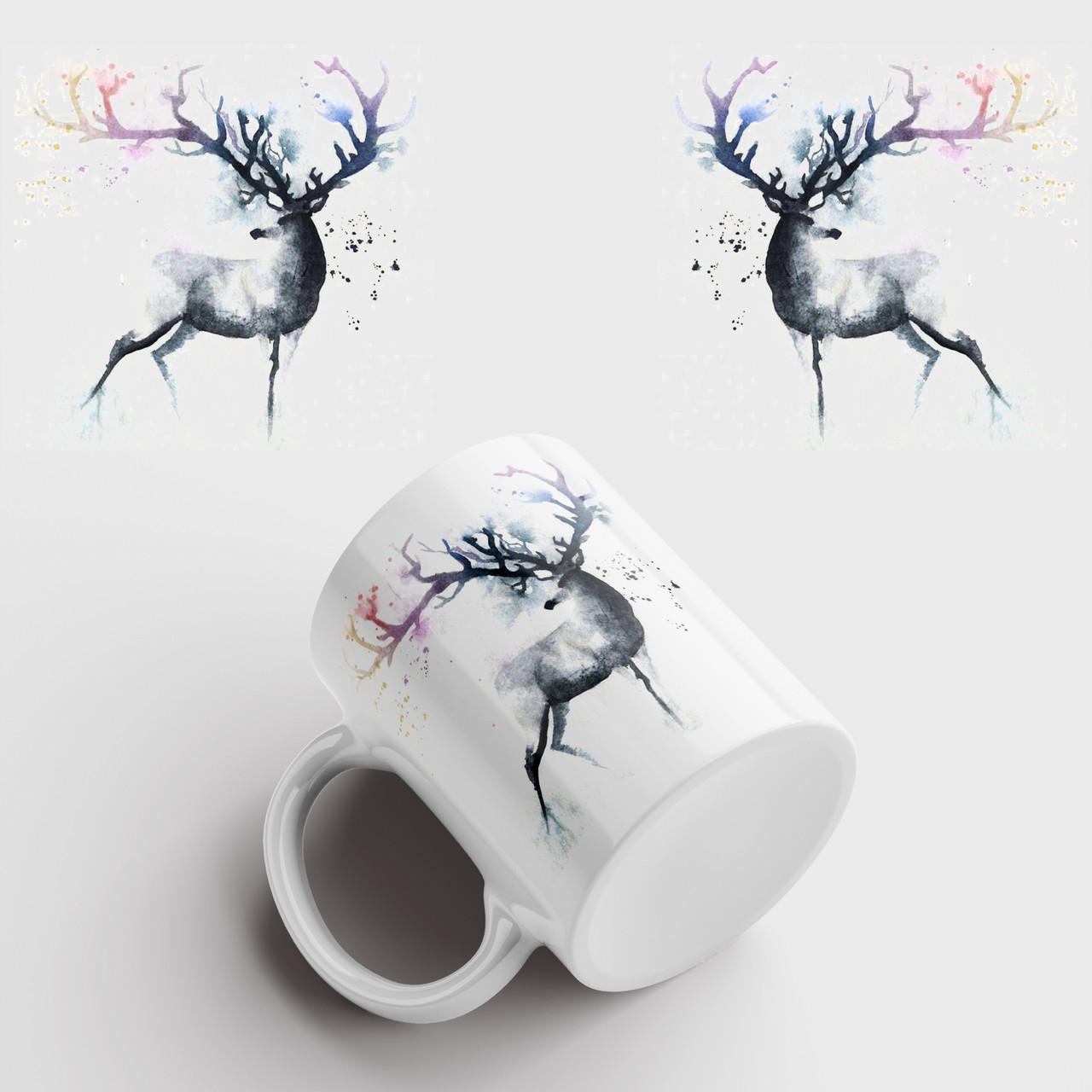 Чашка з принтом Олень арт 6