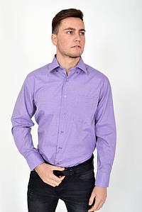 Рубашка 9021-30 цвет Сиренево-белый
