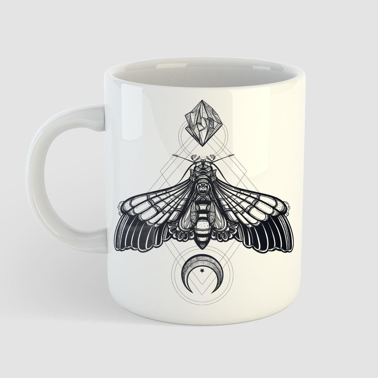 Кружка с принтом Бабочка. Чашка с фото