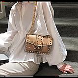 Прозрачная силиконовая сумочка с заклепками с клатчем из кожзама, фото 2