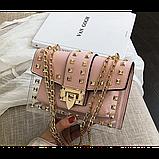 Прозрачная силиконовая сумочка с заклепками с клатчем из кожзама, фото 6