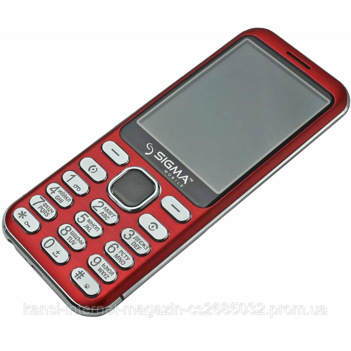Мобильный телефон Sigma mobile X-style 33 Steel Red