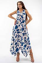 Повседневный свободный длинный женский сарафан с асимметричным низом (Дороти ri), фото 2