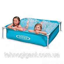 Детский бассейн каркасный intex 57173 (122 х 122 х 30) см, голубой, объём: 337л, вес: 4,9кг, от 3 лет