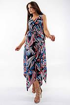 Повседневный свободный длинный женский сарафан с асимметричным низом (Дороти ri), фото 3