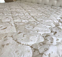 Одеяло двуспальное легкое Мальва 175х215 см. I Одеяло наполнитель холофайбер I Легка ковдра, холофайбер