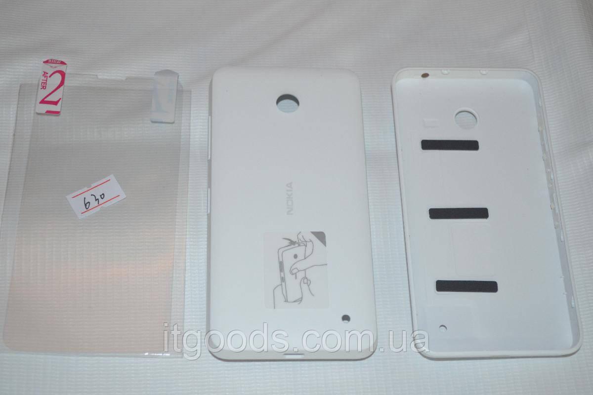 Задняя белая крышка для Nokia Lumia 630   635   636   638 + ПЛЕНКА В П