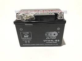Аккумулятор мото Outdo UTX4L-BS 12V4Ah/10HR кислотный