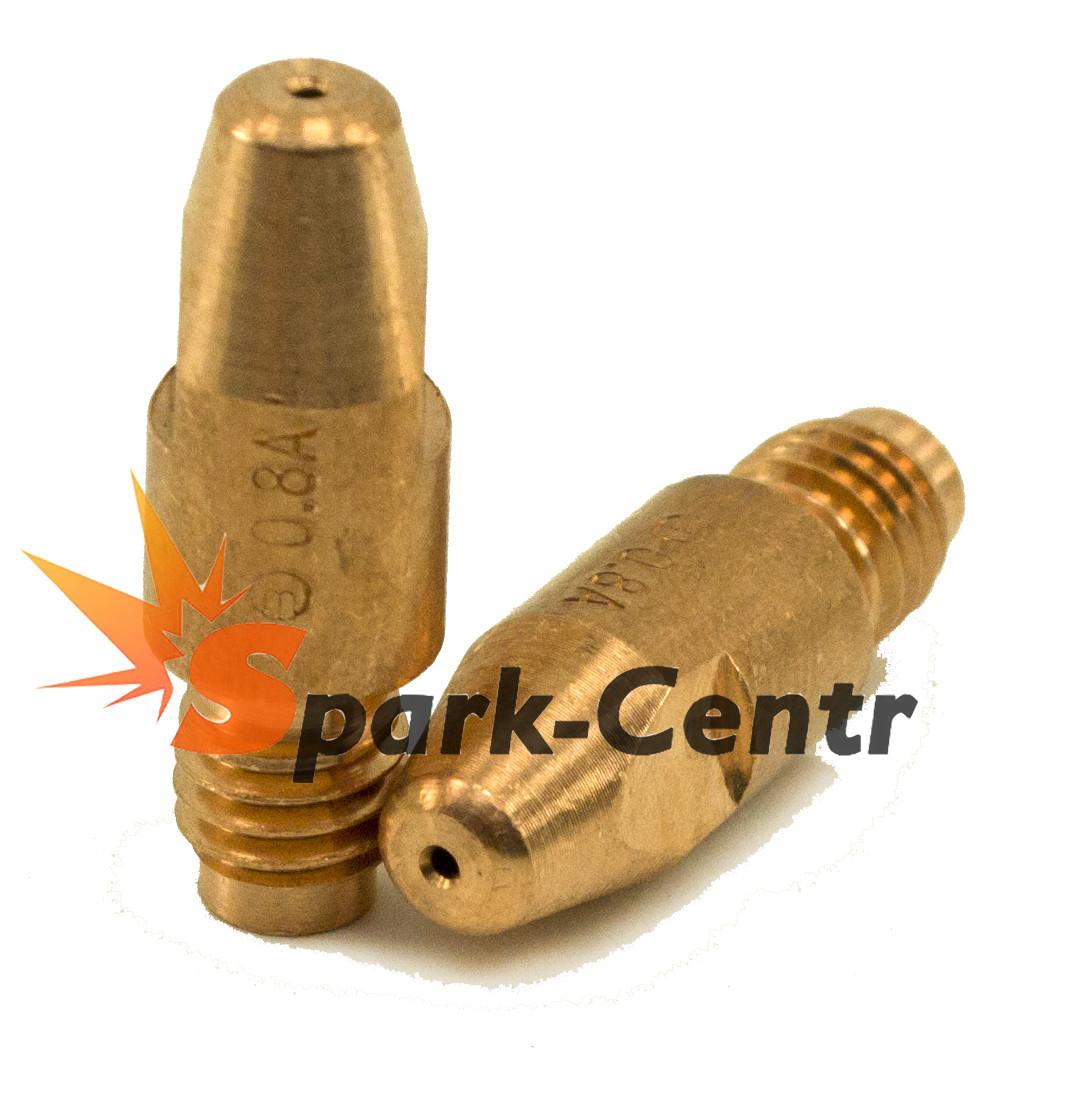 Наконечник токосъемный для алюминия (E-Cu для Al) Ø1,0 мм М8х30 для горелок RF GRIP 26 / 36 Binzel Abicor