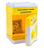 """Дитячий сейф з кодом, для грошей, іграшковий (""""Пікачу"""", жовтий) дитяча музична скарбничка, фото 2"""