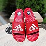 Мужские летние шлепанцы Adidas массажные (красные) 40019, фото 2