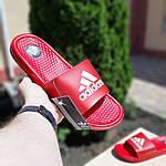 Мужские летние шлепанцы Adidas массажные (красные) 40019, фото 4