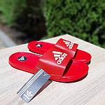 Мужские летние шлепанцы Adidas массажные (красные) 40019, фото 9