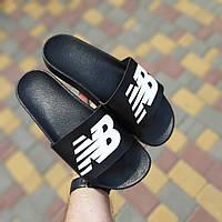 Мужские летние шлепанцы New Balance (черные) 40023