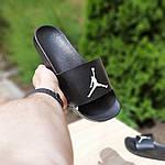 Мужские шлепки на лето Jordan (черно-белые) 40025, фото 2