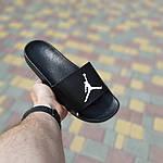 Мужские шлепки на лето Jordan (черно-белые) 40025, фото 3