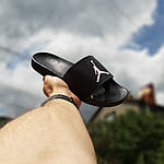 Мужские шлепки на лето Jordan (черно-белые) 40025, фото 4