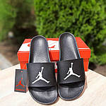 Мужские шлепки на лето Jordan (черно-белые) 40025, фото 6