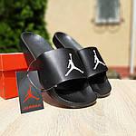 Мужские шлепки на лето Jordan (черно-белые) 40025, фото 7