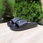 Мужские шлепки на лето Jordan (черно-белые) 40025, фото 8