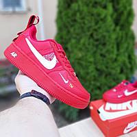 Женские кроссовки Nike Air Force 1 LV8 (красные) 20136