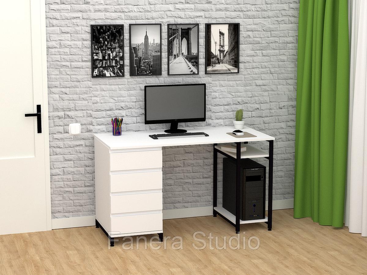 Стол компьютерный Лофт 7 с четырьмя ящиками
