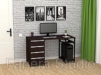 Стол компьютерный Лофт 7 с четырьмя ящиками, фото 6