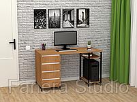 Стол компьютерный Лофт 7 с четырьмя ящиками, фото 7