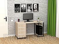 Стол компьютерный Лофт 7 с четырьмя ящиками, фото 3