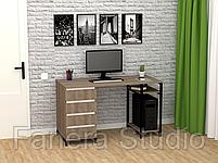 Стол компьютерный Лофт 7 с четырьмя ящиками, фото 8