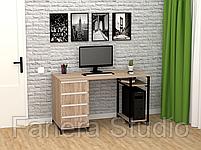Стол компьютерный Лофт 7 с четырьмя ящиками, фото 4