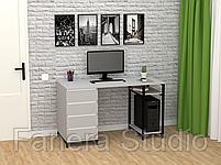 Стол компьютерный Лофт 7 с четырьмя ящиками, фото 10