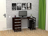 Стол компьютерный Лофт 7 с четырьмя ящиками, фото 9