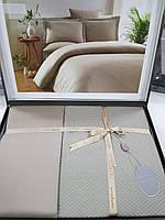 Комплект постельного белья ELITA евроразмер, натуральный 100% бамбук, оливковый, Турция