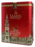 """Чай чёрный листовой James Grandfather """"Пекое"""", 200 гр. ж/б."""