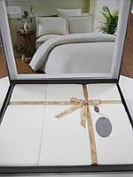 Комплект постельного белья ELITA евроразмер, натуральный 100% бамбук, белый, Турция
