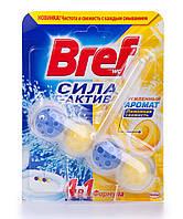 Туалетные блоки для унитаза Сила Актив (Лимонная свежесть) 50гр - Bref