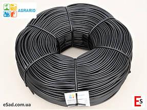 Кембрик - агрошнурок, агротрубка Аграріо - Agrario 5 мм, 5 кг, ПВХ чорний, фото 2